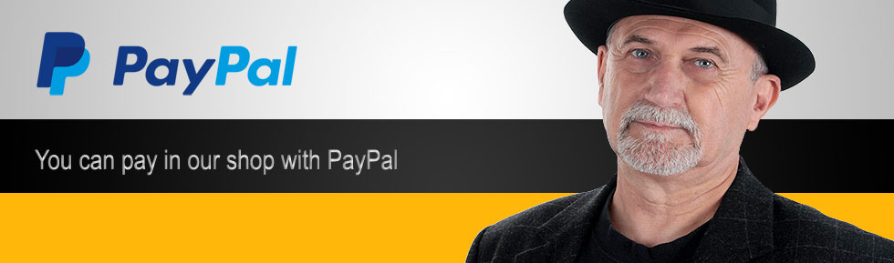 You can pay in our shop with PayPal